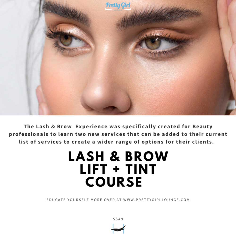 Pretty Girl Lounge Lash & Brow Lift and Tint Course